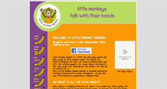 Preview of littlemonkeysigners.co.uk
