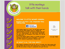 Tablet Preview of littlemonkeysigners.co.uk